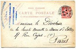 CONSTANTINOPLE PERA Entier Du 28/04/1905 Pour PARIS - Levant (1885-1946)