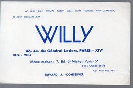 Paris Av Du Général Leclerc : Buvard CHAUSSURES WILLY (PPP9367) - Shoes