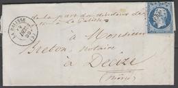 Allier:  P.c.2369 Sur N°14A + CàD LA PALISSE(3) Sur LAC De 1856 - Marcophilie (Lettres)