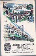 Buvard CREDIT LYONNAIS N°5 Les Chemins De Fer (PPP9369) - Bank & Insurance