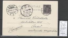 Carte Postale De Paris Pour ARAD - HONGRIE - 1900 - Type Sage - Bonne Destination - Postmark Collection (Covers)
