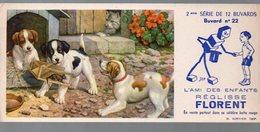 Buvard REGLISSE FLORENT N°22 Chiens Et Souris  (PPP9373) - Alimentaire