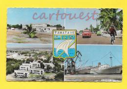 CPSM MADAGASCAR - TAMATAVE Multi Vues Multiples - Boulevard Ratsimilaho - Lycée - Port - Cité Marabou Vue Avion - Madagascar