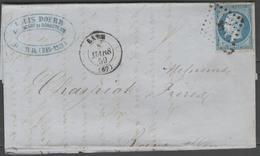 Bas Rhin:  P.c.262 Sur N°14A + CàD BARR(67) Sur LAC De 1859 - Marcophilie (Lettres)