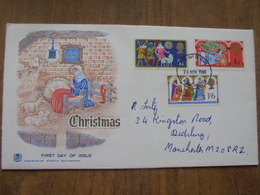 S016: FDC: Christmas 1969. 5d, 4d & 1/6d. First Day Of Issue 26/11/1969 Manchester. - FDC