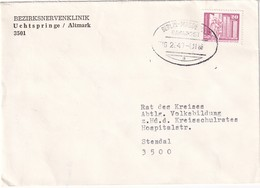 DDR 1986 LETTRE DE UCHTSPRINGE  CACHET FERROVIAIRE BERLIN-MAGDEBURG - [6] Democratic Republic