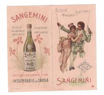 CALENDARIETTO  SEMESTRINO  1899  ACQUA MINERALE NATURALE SANGEMINI - Calendari