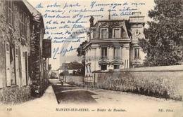/!\ 8078 - CPA/CPSM - 78 - Mantes Sur Seine : Route De Houdan - Mantes La Ville