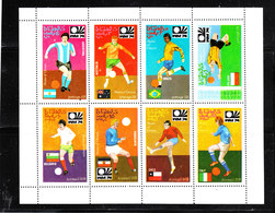 Oman  -  1974.  Serie In Minisheet  MNH. Fresco - Coppa Del Mondo
