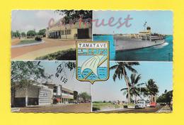 CPSM MADAGASCAR - Mutltivues - Bateau Aurélia - Gare De Chemin FER - Cinéma RIO - Boulevard Ratsimilaho - Madagascar
