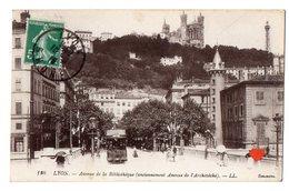 35805-ZE-69-LYON-Avenue De La Bibliothèque (anciennement Avenue De L' Archevêché)----------animée-tramway - Lyon