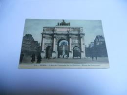 75 PARIS CARTE ANCIENNE EN COULEUR  PARIS L'ARC DE TRIOMPHE DE LA VICTOIRE PLACE DU CARROUSEL N°315 - Arc De Triomphe