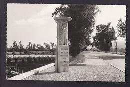 CPSM 26 - PONT-de-l'ISERE - Route Nationale N°7 - Monument Du 15 ème Parallèle - TB PLAN ROUTE Et VOITURE - France