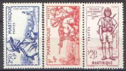 Martinique N° 186 à 188 ** Défense De L'Empire - Unused Stamps