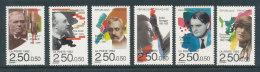 2747 à 2752** Série Des  Personnages Célèbres 1992 - Musiciens - France