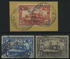KIAUTSCHOU 34-37IA O,BrfStk , 1906, 1/2 $ - 11/2 $, Mit Wz., Friedensdruck, 3 Werte Feinst, Alle Signiert, Mi. 440.- - Kolonie: Kiaochow