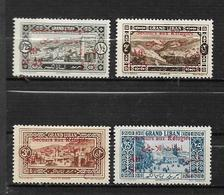 Colonies Grand Liban De 1926  N°63 + 69 + 71 + 74 Neufs *  Cote 22€ - Unused Stamps