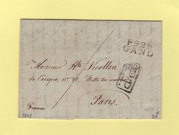 Gand - 92 - 1808 - PP Port Paye - Departement Conquis De L'Escaut - Marcofilie (Brieven)
