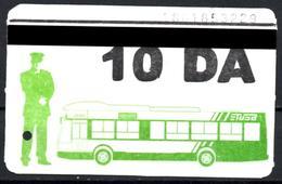 1 Ticket Transport Algeria Bus Algiers Alger - ERROR DATE Biglietto Dell'autobus - 1 Billete De Autobús - 1 Busticket - Bus