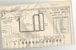 Plan De Cablage Du Camion Berliet  Gbc8  :6x6 Kt  Il Est Complet - Documenti
