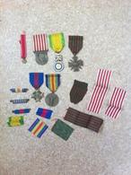 Lot Médailles Et Rubans - 1914-18