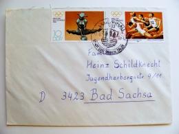 Cover Germany Ddr Olympic Games 1980 Gymnastics Athletics - DDR