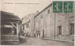 T14- 47) SAINT MAURIN (LOT ET GARONNE) BUREAU DE POSTE - ARRIVEE DU COURRIER  - (DILIGENCE) - France