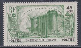 Océanie  N° 130 X  Partie De Série 150ème Anniversaire De La Révolution : 45 C. + 25 C. Vert Trace De Charnière Sinon TB - Oceania (1892-1958)