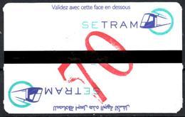 1 Ticket Transport 2018 Algeria Tram Tramway Alger Algiers Argel Billete De Transporte Tranvía - Tickets - Tramways