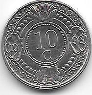 *netherlands Antilles  10  Cents  1998  Km 34    Bu - Antillen (Niederländische)