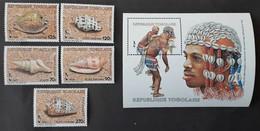 Togo 1985** Mi.1865-70 Shells [23;35] - Vie Marine