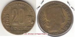 Argentina 20 Centavos 1947 KM#42 - Used - Argentina