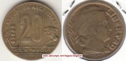 Argentina 20 Centavos 1950 KM#42 - Used - Argentina