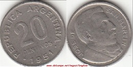 Argentina 20 Centavos 1951 KM#48 - Used - Argentina