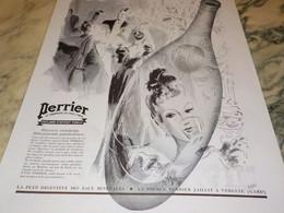 ANCIENNE PUBLICITE REUNION MONDAINE SOURCE PERRIER LA SOIF  1938 - Perrier