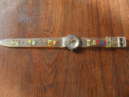 ANC.  MONTRE  BRACELET / POUR  ADO   / SNOOPY - RANANA BEAGLE   / BRACELET SYNTH.  / A REVISER - Watches: Modern