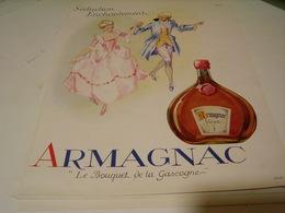 ANCIENNE PUBLICITE ARMAGNAC VIEUX  1946 - Alcools