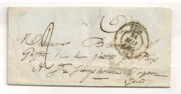 1841  LETTRE DE LYON A SAINT SIMPHORIEN D'OZON  B50 - Poststempel (Briefe)
