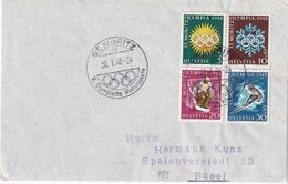 SUISSE 1948 JO HIVER LETTRE DE ST.MORITZ - Invierno 1948: St-Moritz