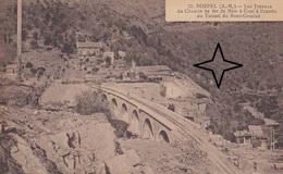 SOSPEL Ligne Ferroviaire Nice à Coni. Travaux Au Tunnel Du Grazian. - Sospel