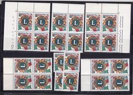 1967 Italia Italy Repubblica LIONS INTERNATIONAL 24 Serie MNH** 5 Quartine + 4 - Rotary, Lions Club