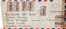 JOLIE LETTRE DE MARTINIQUE POUR LA REPUBLIQUE DOMINICAINE EN 1944 AVEC CENSURE MILITAIRE - Martinique (1886-1947)
