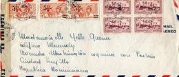 JOLIE LETTRE DE MARTINIQUE POUR LA REPUBLIQUE DOMINICAINE EN 1946 AVEC CENSURE MILITAIRE - Martinique (1886-1947)