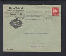 Dt. Reich Brief 1926 Hans Trinkl Uhren- Und Apparatefabrik Augsburg - Deutschland
