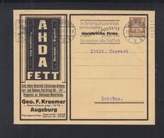 Dt. Reich Brief 1926 AHDA Fett Augsburg - Deutschland