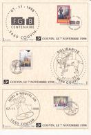 Prévente Spéciale - Timbres FGTB-Solidarité-Noël Nouvel An- Signé MVTM - Timbres N° 2788/89/90 - FDC