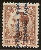 ESPAÑA Edifil 593*  2 Céntimos Castaño  Recargados República  1931  NL1004 - 1931-50 Neufs