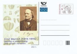 Rep. Ceca / Cart. Postali (Pre2015/32) Ernst Beyrich (1815-1896) Geologo E Paleontologo Tedesco, 200 ° Compleanno - Interi Postali