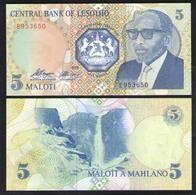 ЛЕСОТО  5  1989 UNC - Lesotho