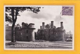 SAINT VOUGAY -29- CPSM - Château De Kergounadeac'h - Ruines Du Château (coté Nord) Construit Ver 1930- Ref A 7353-54 - Saint-Vougay